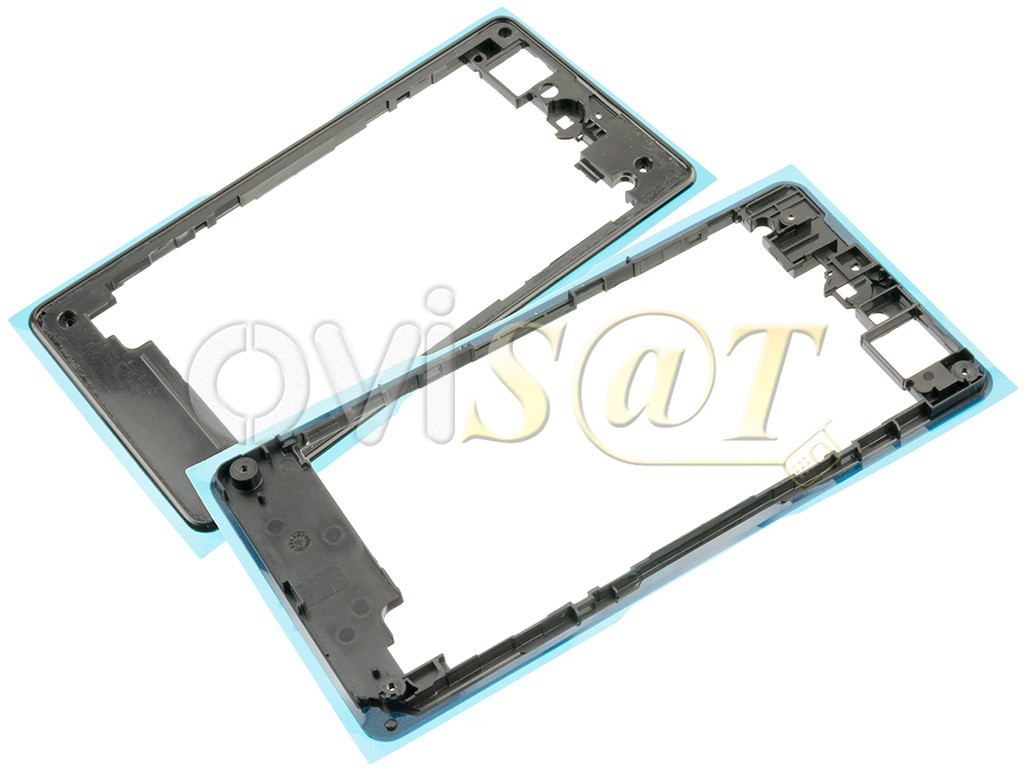 Carcasa central, marco, chasis intermedio negro para Sony Xperia Z1 ...