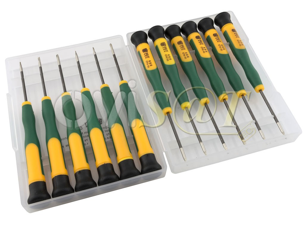 Kit de 12 destornilladores de precisi n para reparaci n y - Destornilladores de precision ...