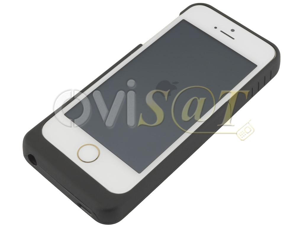 a37d6f06ed0 Batería externa con funda protectora negra para Iphone 5/5S/5C/5SE