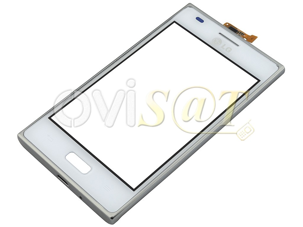 Pantalla digitalizadora, ventana táctil blanca con Marco de LG E610 ...