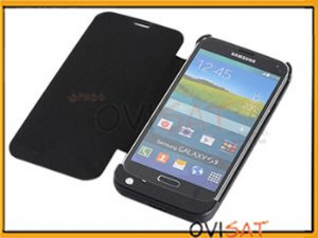 e57dc70077e Batería externa con funda flip negra para Samsung Galaxy S5, G900 en blister