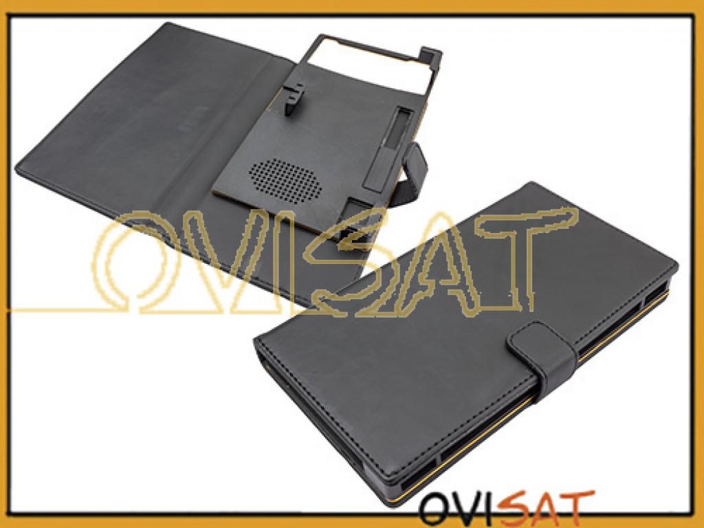 2baad18812d Funda universal negra tipo agenda para smartphone entre 6.0 y 6.4 pulgadas